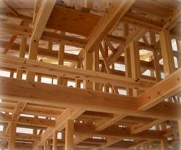 みゆきホームの構造材 梁